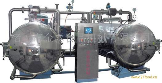 诸城金泰/蒙古牛肉干/700-1200半自动水循环式杀菌釜/电加热
