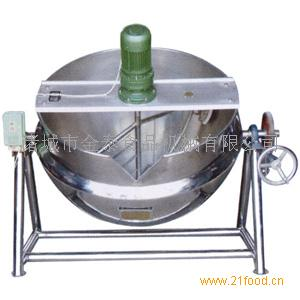 厂家直销蒸汽可倾带搅拌式夹层锅