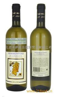 意大利葡萄酒维蒙蒂诺有机红葡萄酒Vermentino