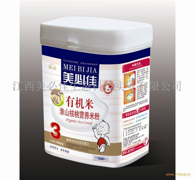 美必佳有机米淮山核桃营养米粉