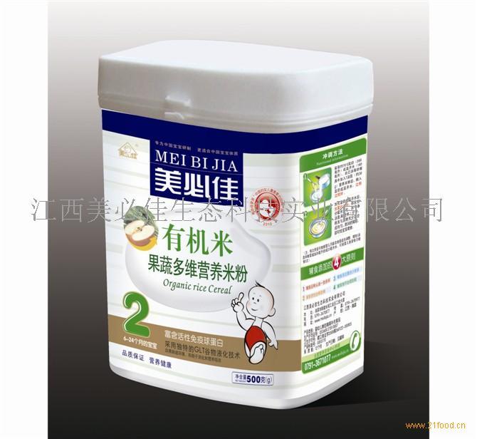 美必佳有机米果蔬多维营养米粉