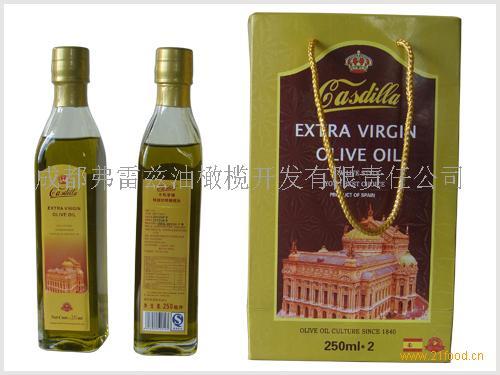 卡斯蒂娅 250ml×2特级初榨橄榄油礼盒装