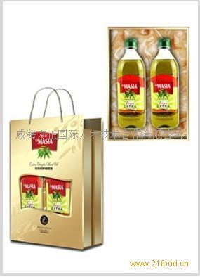 欧蕾橄榄油精装礼盒1L*2