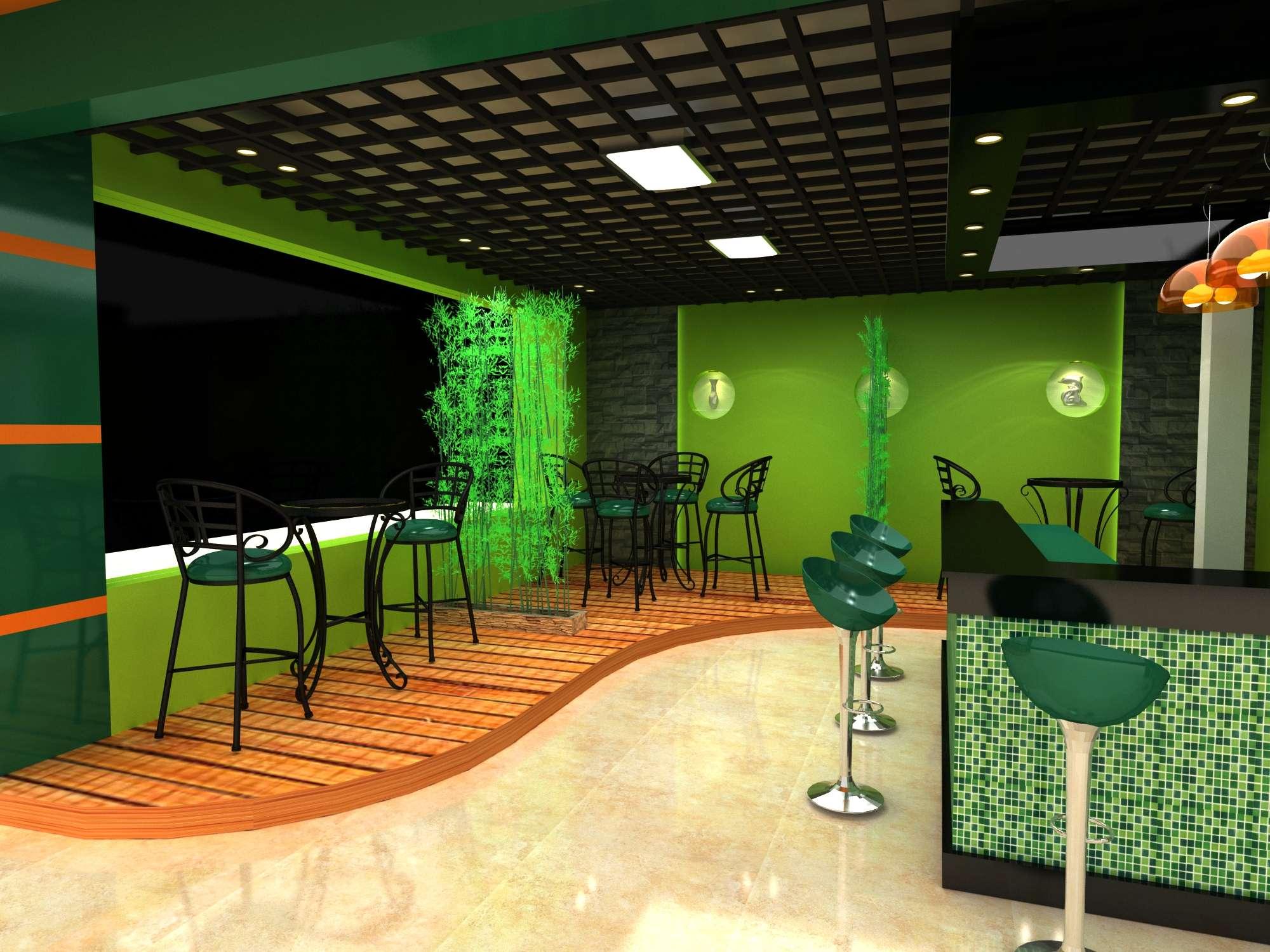 食品展示厅设计效果图
