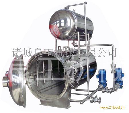 供应鱼罐头专用手动式双层电加热喷淋式高温高压杀菌锅