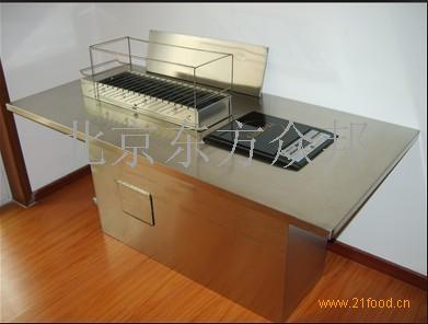 适用于自助烧烤店,韩式自助烧烤,可镶嵌在不锈钢餐桌,大理石桌面,木质
