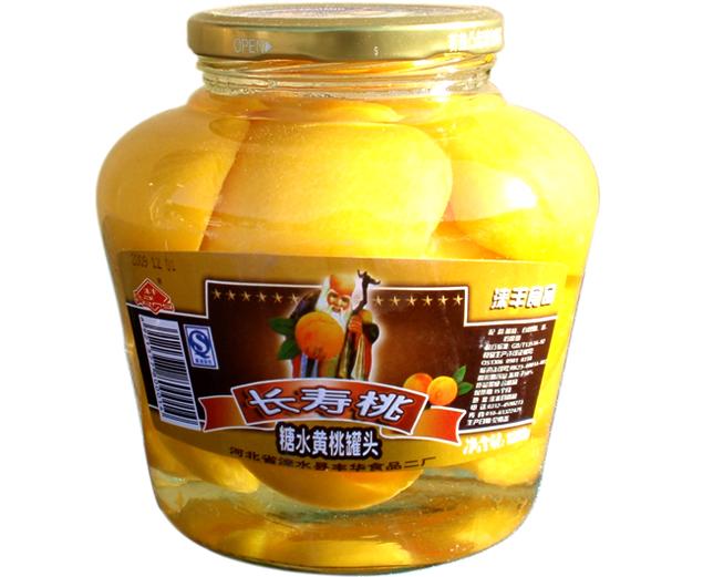 1200g黄桃水果罐头