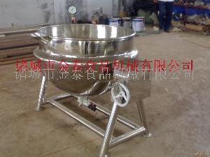 蒸汽可倾搅拌带盖式夹层锅