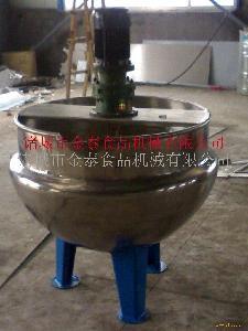 不锈钢蒸汽可倾带盖夹层锅