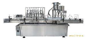 YXT-YG8/2 八泵液体灌装双头旋盖一体机