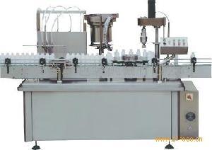 YXT-YG4/1四泵液体灌装旋(轧、压)盖机一体机