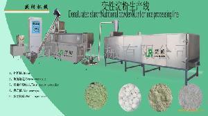 高粘合变性淀粉双螺杆膨化设备生产线