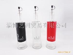 玻璃大底油瓶喷塑套皮