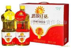塔原红花籽食用油1.8L礼盒