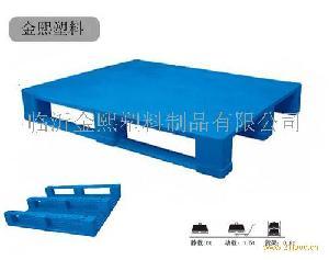单面平板川字塑料托盘