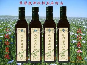欧米伽亚麻酸营养油草原康神冷榨亚麻油