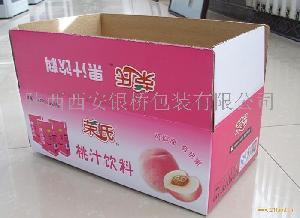 荣氏桃汁饮料外包装纸箱