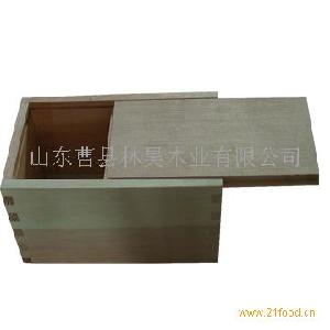 木质食品盒抽拉盖桐木