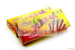 印尼进口食品Rocky乐可可巧克力脆卷饼干120克