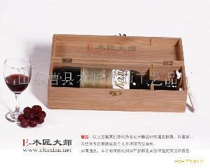 集安高极木制酒盒单只装松木酒盒
