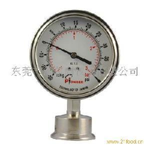 Pioneer牌100mm卡箍式隔膜压力表厂家直销