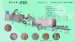 双螺杆大豆组织蛋白膨化设备生产线