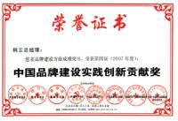 2007年度中国品牌建设实践创新贡献奖