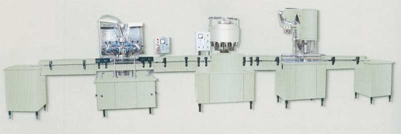 供应纯净水、果汁、酒类等冲洗、罐装、封口自动生产流水性